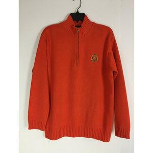Ralph Lauren Men's M Sweater Orange Cotton